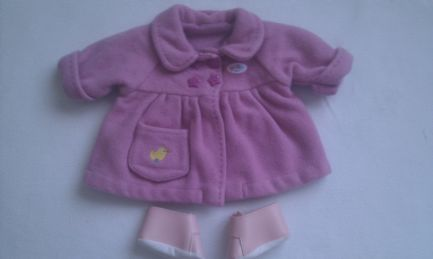 Adorabale My 1st 'Baby Born Baby Doll Pram Coat & Shoes' 3-Piece Outfit